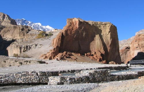 Impressive view of Landscape, nearer Chhusang, Mustang